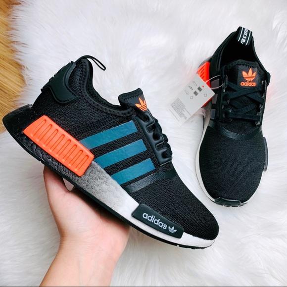 adidas nmd r1 core black solar orange